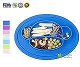 RayMoon Baby Kleinkinder Teller Schale Platzdeckchen Tischset Rutschfest Affe Form Silikon Geschirr Navy Blau