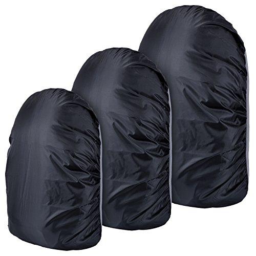 Imagen de outus 3 piezas cubierta de lluvia de  funda impermeable de bolsa set con 3 tamaños 30 40 l, 55 65 l y 75 85 l para senderismo, acampada, escalada, ciclismo