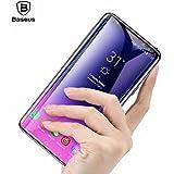 Original [Baseus] Samsung Galaxy S9 Plus Tempered Glass Film, Baseus 9H Hardness Anti-scratch Anti-fingerprint HD Screen Protector 3D Arc Tempered Glass Film For Samsung Galaxy S9 Plus-Black