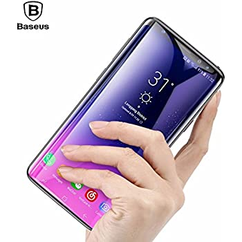 Original [Baseus] Samsung Galaxy S9 Plus Tempered Glass Film, Baseus 9H Hardness Anti-scratch Anti-fingerprint HD Screen Protector 3D Arc Tempered Glass Film For Samsung Galaxy S9 Plus-Black