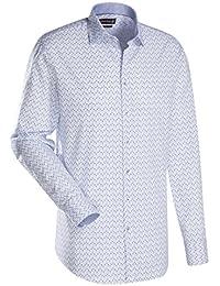 JACQUES BRITT Herren Hemd Custom Fit Brown Label Langarm Bügelleicht Smart Casual Hemd Kent-Kragen Manschette weitenverstellbar