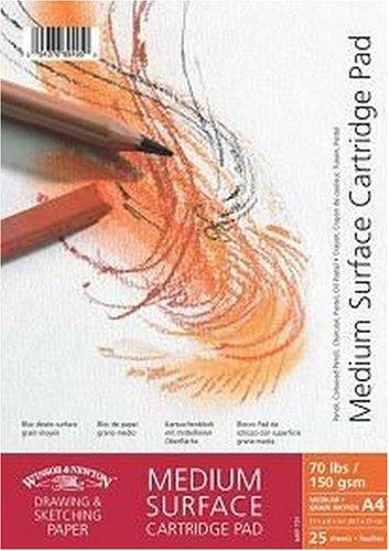 Winsor&Newton - Blocco Carta Grana Media Spirale Lato Corto - 150 Gr - A4-25 Fogli