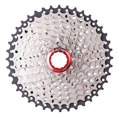 ARDUTE Klapp Mountainbike 11-40 T Schwungräder Fahrrad 10 Geschwindigkeit Karte Typ Schwungrad Fahrrad Klappfahrrad Kassette Fahrrad Freilauf (Silber + Schwarz) (10 Fahrrad Geschwindigkeit)