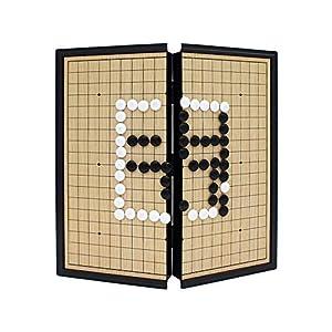 Dfghbn-YXWJ Go Game Set Magnetisches Go-Spielset mit einzelnen konvexen magnetischen Plastiksteinen und Go-Board Großes…