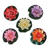 10 pezzi di 4 pollici Floating Flower, impermeabile Fiore di loto per la cerimonia nuziale acquari decorazione