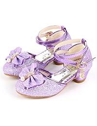 YOGLY Niñas Zapatos de Tacon Disfraz de Princesa Niña de Bailarina Zapatos