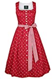 h.moser Salzburg Damen Trachten Trägerkleid rot, 2727 rot, 46