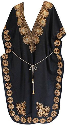 La Leela Designer longue plage de robe de soir�e de rayonne maillots de bain maillot de bain bikini de femmes couvrir caftan Noir