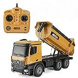 Fernsteuerungskipper, Selbstentladendes Fahrzeugfahrzeug, 2.4 GHz 10-Kanal-Vollfunktion LKW-Spielzeug für Kinder, Jungen und Mädchen
