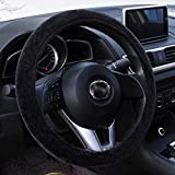 OLGKJ Coprivolante Volante in Peluche Corto in Pelliccia Coperchio Volante Invernale Caldo per Accessori Interni Auto