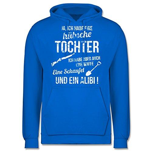 Vatertag - Ich habe eine hübsche Tochter - Männer Premium Kapuzenpullover / Hoodie Himmelblau
