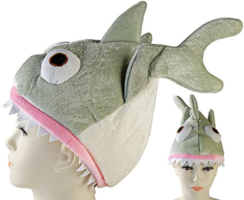 Seiler24 Süßer Hai Hut Karneval mit Haifischzähnen an der Hutkrempe