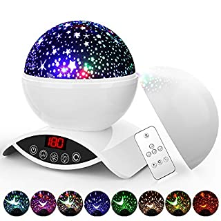 Star Night Light Projector, Elecstars 8 Colours Dimmable Combinations Romantic Starry Sky Lamp, Remote Control, Timer Auto-Off, 360 Degree Rotating, Toys for Nursery Decor, Gifts for Kids(White)