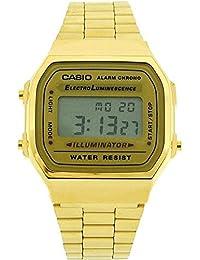 Casio A168WG-9WDF - Reloj para hombres, correa de metal color dorado