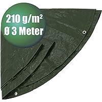 PE-Abdeckplane rund Ø 3 m grün Typ 430300