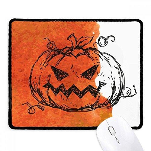 (DIYthinker Handgemalte Kürbis von Halloween Griffige Mousepad Spiel Büro Schwarz Titched Kanten Geschenk)
