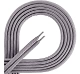 Ladeheid Qualitäts-Schnürsenkel aus 100% Polyester LAKO1001 (grau165, 140cm)