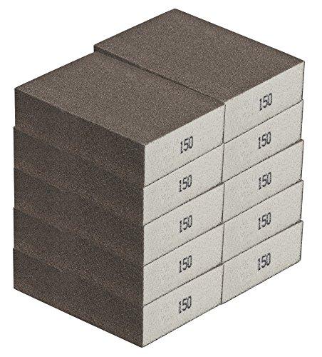 Schleifschwamm MITTEL 10-er-Set I Körnung 150, DIY, Handschleifer I für verschiedene Materialien geeignet I hochwertiger Handschleifklotz, Schleifklotz, Schleifblock