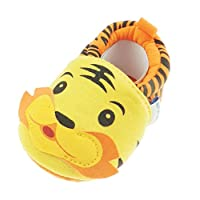 Adorable Baby Boys Slip On Booties Shoes Loafers Orange Tiger Face