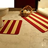 DXG&FX Toilette door mat toilette u-pfad bad wasserabsorbierenden anti-schleudern mat-C 20x31inch