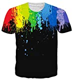 Uideazone Teen 3D-Feuerwerk -Neuheit-T-Shirt Coole Grafik-T-