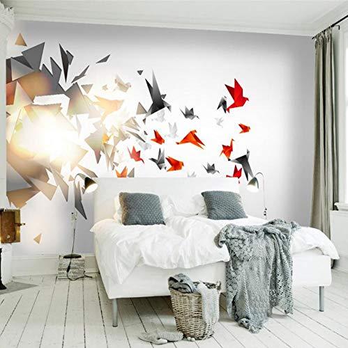 WH-PORP moderne 3D Foto Tapete Stereo Effekt einfaches Wohnzimmer Schlafzimmer Hintergrund Wandbild geometrische nordische 3d Tapete-400cmX280cm