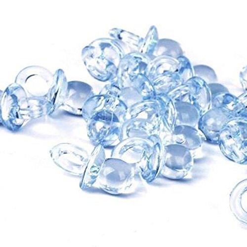 Foto de 50x acrílico chupones mesa favor accesorios decoraciones para fiesta bebé ducha boda fiesta cumpleaños, Azul
