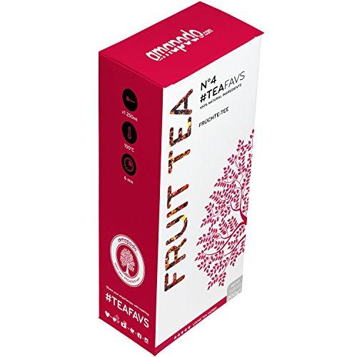amapodo Früchtetee - 200g loser Tee - 100% natürliche Früchte Tee-Mischung (Roter Tee Lose-blatt)