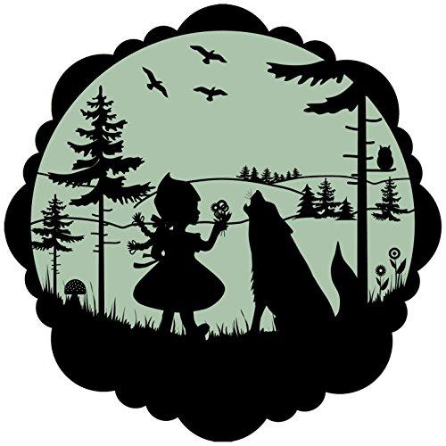 lumentics Märchenaufkleber Rotkäppchen - Im Dunkeln leuchtender Motiv-Aufkleber. Sticker mit angepasster Leuchtkraft für das Kinderzimmer. Größe: 30cm