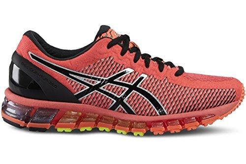 Asics Gel Quantum 360, Chaussures de Running Compétition Femme Orange (Flash Coral/Black/Silver)