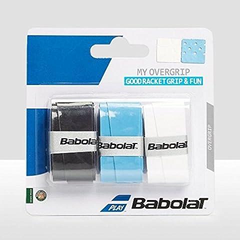 BABOLAT My Grip (lot de 3), Blanc/Bleu, Taille Unique