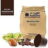 50 Cápsulas de Café compatibles Nespresso sabor de Nocciolino, 50 Cápsulas compatible con maquinas Nespresso, Paquete de 5x10 por un total de 50 Capsules, 50 cápsulas café soluble, Il Caffè italiano