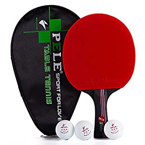 Nanocarbon Table Tennis Bat - PingPong Racket with free Case and 3 Balls(Sweat Antiskid Long Handle) Review 2018 from Opuman
