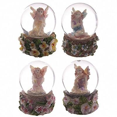 Beautiful Flower Fairy Mini Waterball Snow Globe Ornament Mothers Nana Grandma Gift Present