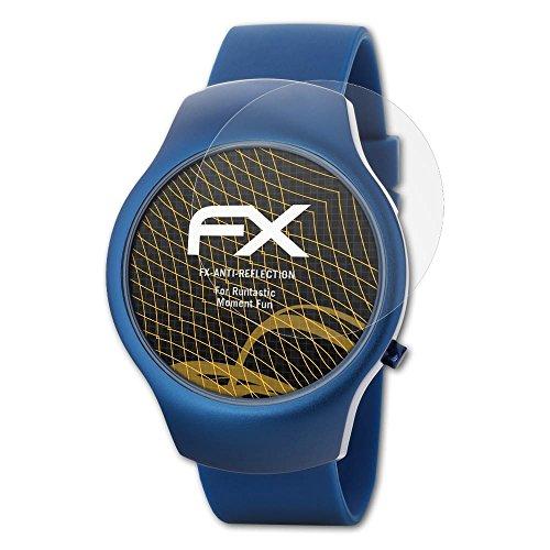 atFoliX Panzerfolie kompatibel mit Runtastic Moment Fun Schutzfolie, entspiegelnde & stoßdämpfende FX Folie (3X)