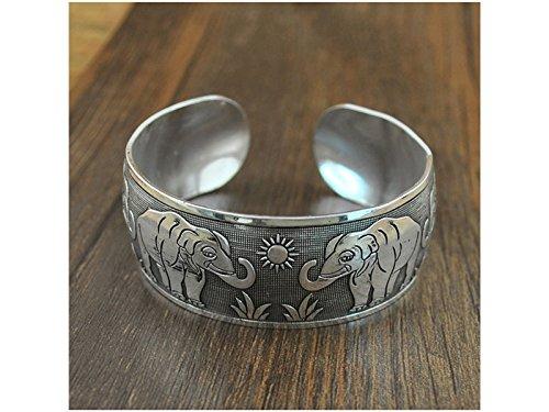 OVVO Machen Sie schöne Dekoration Frauen Armband geschnitzt Elefant Armreif Legierung Öffnung Manschette Armband -