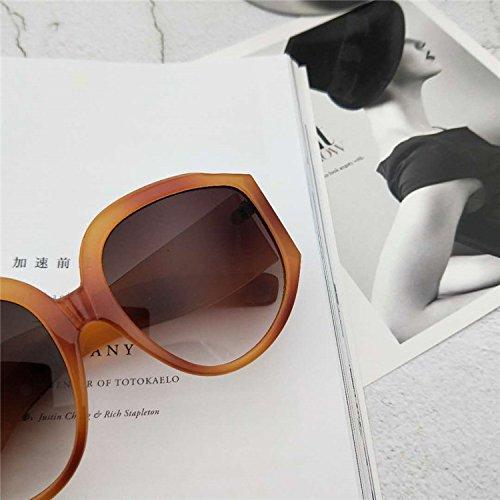 Sunyan Hyperbel, groß, Gesicht, Multi Color Sonnenbrille, dünnes Gesicht, dünnes Gesicht, Foto, Photo, Flughafen Straße, breites Gesicht und eine Sonnenbrille, Kurkuma gerahmte Kaffee