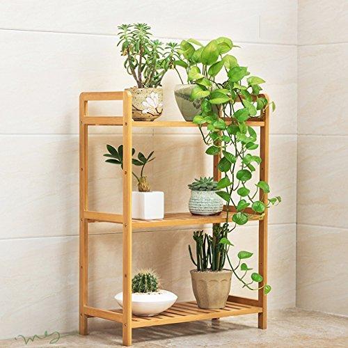 BSNOWF-fleur étagère Stand De Fleur En Bois Multifonctions Balcon Salon Fleur Pot Pot Simple Moderne ( Couleur : 3-tier , taille : 50 cm )