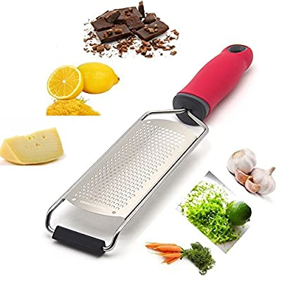Sonyabecca Grater &Zester with ABS 304 Stainless Steels Blade Grips for Cheese,Lemon,Ginger,Garlic,Chocolate from Sonyabecca