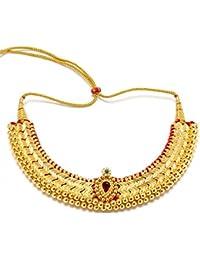 Triveni Sparkling Golden Colored Immitation Collar kjcn0026
