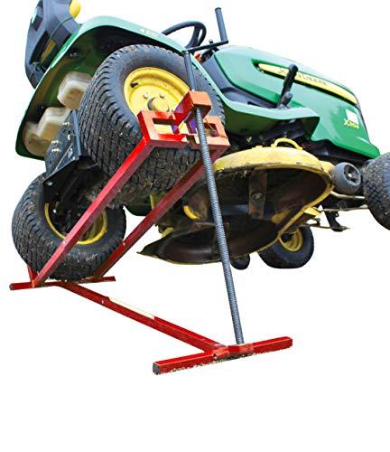 Lève tracteur Tondeuse Lève tondeuse télescopique - Gain de place 30% Supporte 400 kg max