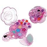 Unbekannt Kinder Schminke, geprüfte Kosmetik wie Lidschatten und Lipgloss: Schminkset geprüfte Kinderkosmetik Spielschminke Set