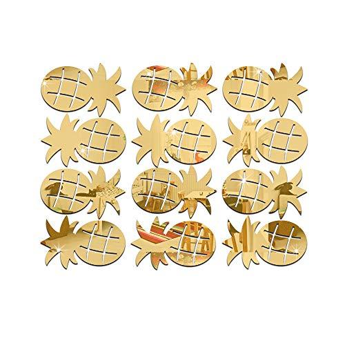 erthome Raum-Dekorations-Wand-Aufkleber-Schmetterlings-Kühlschrank-Hauptdekoration der Ananas-3D Schlafzimmer Kinderzimmer Sofa Möbel Hintergrund (Gold) - Jubiläum-diamant-band