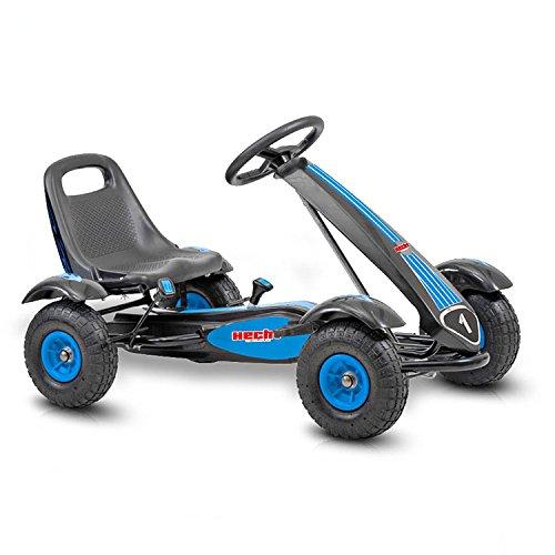 Hecht Go Kart 50100 Tretauto Go-Kart für Kinder (Blau-Schwarz)