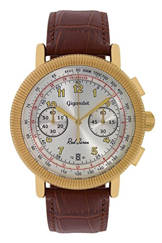 Gigandet Red Baron IV Men's Analogue Wrist Watch Quartz Chronograph Gold Brown G19-007