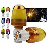 A-szcxtop tragbar Multifunktions-LED-Warnlicht Fahrrad Lenker Licht mit 3Modi für Fahrrad als Blinklichter und Warnlicht, gelb