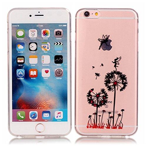 iPhone 6s plus Hülle,iPhone 6 plus TPU Hülle,Fodlon® Ultra dünn Tropfenschutz / Shock-Absorption mit Anti-Scratch Silikon-TPU-Fall-Abdeckung für iPhone 6 plus 6s plus-Bär Löwenzahn