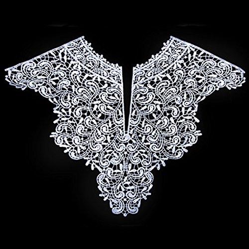 Sunlera 1PC Stickerei Große Blumen-Ausschnitt Stoff DIY Kragen Gewebe für Frauen Mädchen Sewing Supplies Crafts -
