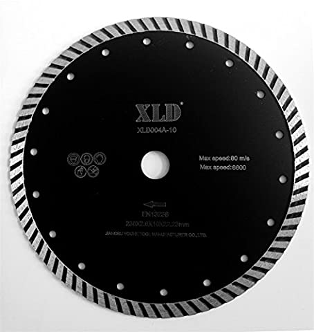 Saw Blades XLD Cold-pressed Turbo Diamond Saw Blade,Widely Use In Building Materials Cutting ,Grade A,9 Inch By XLDTOOL ( Size : 230*2.6*7*22.23mm