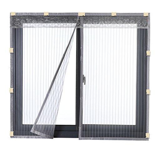 Liveinu zanzariera magnetica per porte finestre tenda zanzariera con magneti rete anti zanzare zanzariera con clip adesiva 80x100cm grigio